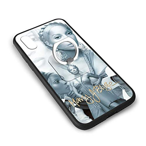 Mary J Blige iPhone X iPhone Xs TPU Glass Phone Case with 360 Ring Bracket