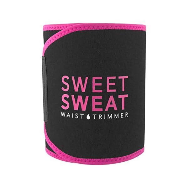 Health Shopping Sweet Sweat Premium Waist Trimmer (Pink Logo) for Men & Women ~ Includes Free