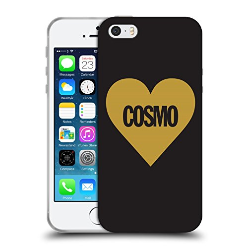 Official Cosmopolitan Heart Love Cosmo Soft Gel Case for Apple iPhone 5 / 5s / SE