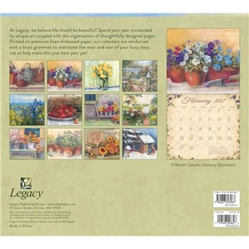2017 Cottage Garden Wall Calendar - Legacy {jg} Great Holiday Gift Ideas - for mom, dad, sister, brother, grandparents, gay, lgbtq, grandchildren, grandma. Photo #2