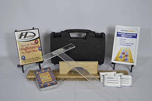 Table Shuffleboard Accessories Kit - Board Wipe - T-Square - Case - Rules + More by Zieglerworld (Image #1)