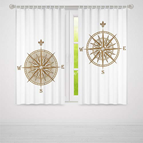 YOLIYANA Compass Door Curtain,Ancient Shipping Windrose for sale  Delivered anywhere in USA