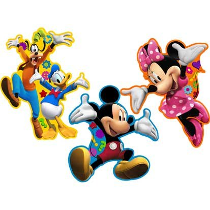 Mickey's Clubhouse Wall Decoration, 3ct