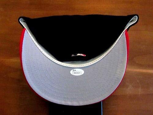 Eddie Mathews 500 Hr Club Braves Hof Signed Auto New Era Cap Authentic JSA Certified Autographed Hats