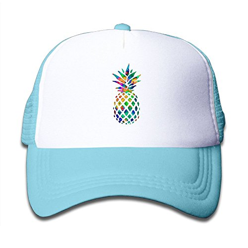 Elephant AN Colorful Pineapple Mesh Baseball Cap Kid Boys Girls Adjustable Golf Trucker Hat