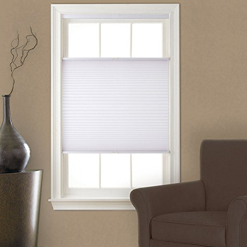 up down blinds wooden top down bottom up cordless pleated shade snow 23x64 blinds amazoncom