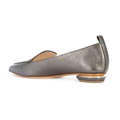 Fsj Vrouwen Mode Wees Teen Pompen Lage Hakken Ongedwongen Loafers Slip Op De Zomer Schoenen Maat 4-15 Ons Grijs-matte
