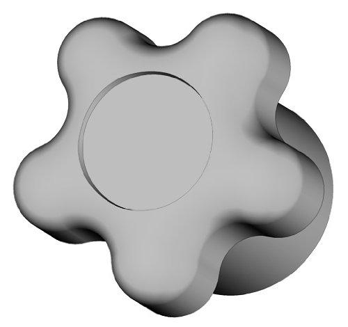 Innovative Components AN4C-5S2B-21 1.38'' Star knob blind 1/4-20 steel zinc insert black pp (Pack of 10)