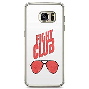 Loud Universe Fight club Classic Glasses Aviators Samsung S7 Edge Case with Transparent Edges