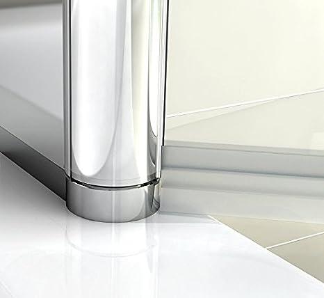 HNNHOME 180° Pivote Panel Doble Pantalla Ducha de Baño Vidrio 6mm ...