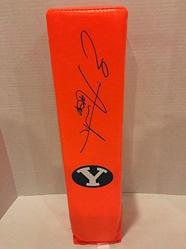 Ezekiel Ansah Signed Touchdown Pylon Byu Cougars Autographed Football Ziggy - College Autographed Miscellaneous Items