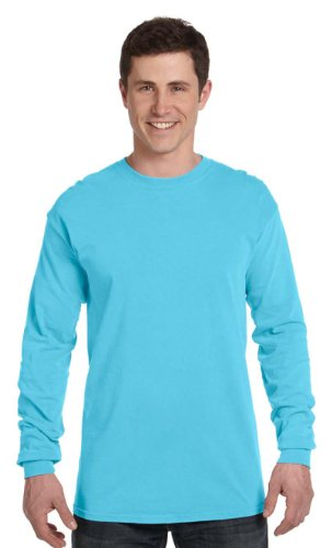 Comfort Colors Ringspun Garment-Dyed Long-Sleeve T-Shirt, Small, LAGOON
