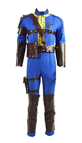 Survivor Nate Costume Halloween Game Cosplay Blue Outfit Jumpsuit for Men (Medium, Blue) ()