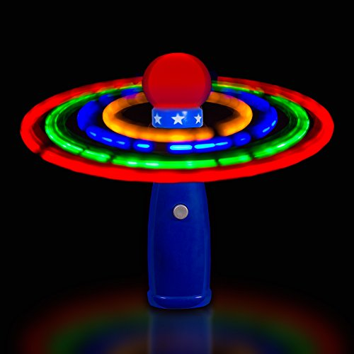Windy City Novelties Hand Held Led Light Up Galaxy Spinner