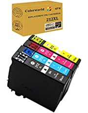 ColorWorld Remanufactured Ink Cartridge Replacement 212XL 212 T212XL T212 High Yield to Use with XP-4100 XP-4105 WF-2830 WF-2850 Printer 4-Pack(1 Black, 1 Cyan, 1 Magenta, 1 Yellow)
