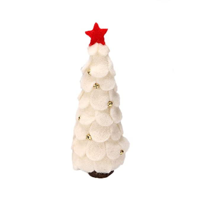 BHYDRY Decoración de la Mesa Árbol de Navidad Forma Lana Árbol de Madera Adornos Regalo de los niños: Amazon.es: Hogar