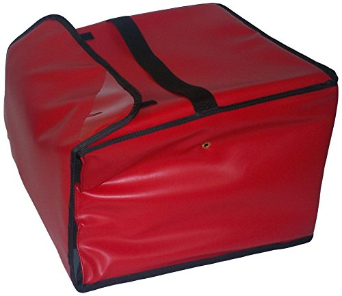 TCB Insulated Bags PK-3518-Red Insulated Pizza Delivery Bag, Holds 5 Each 16'' Pizzas, 18'' x 18'' x 12'', Red by TCB Insulated Bags