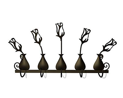 Plastec WH03DB Rose Bud Vases 5 Hooks