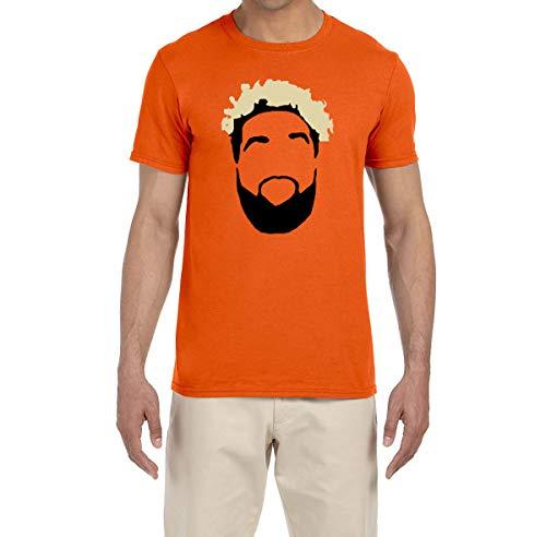 - Tobin Clothing Orange Cleveland Beckham Face T-Shirt Adult XL