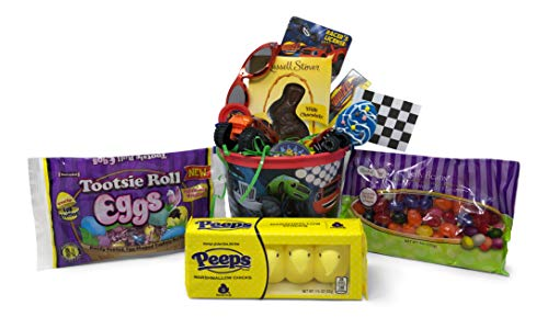 Easter Basket For Boys (Blaze and The Monster Machines Easter Basket Pre Filled with Easter Candy, Easter Toys, Easter Basket Filler, and Easter Basket Grass | Great for Kids, Boys and)