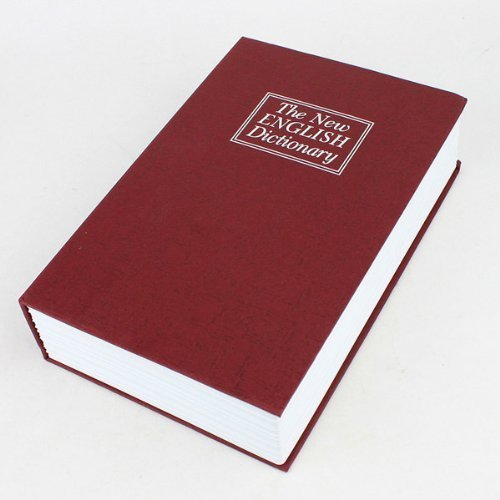 Locking Book Safe - The New English Dictionary (Size Big , Color Red)