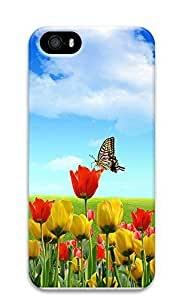 iPhone 5 5S Case Nature Flower Butterfly 3D Custom iPhone 5 5S Case Cover