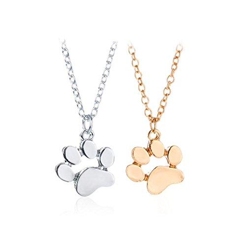 Clearance ! Dog Footprint Necklace,Vanvler Men Women Animal Pendant Necklace Jewelry (Silver) by Vanvler Necklace (Image #3)