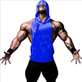 ROBO Mens Workout Hooded Tank Tops Sleeveless Gym Hoodies with Kanga Pocket Cool and Muscle Cut
