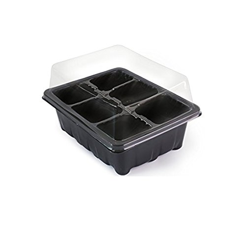 $11.99 LOVEDAY 10-pack Seed Starter Trays 60 Large Cells Seedling Tray Plant Grow Kit with Lid and Base for Seed Germination (6-cell Per Tray) with 10 Plant Tags 2019