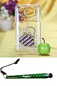 FoxyCase(TM) FREE stylus AND HTC EVO 4G LTE Fashion Handbag Crystal 3D Full Diamond Bling Protector Cover cas couverture