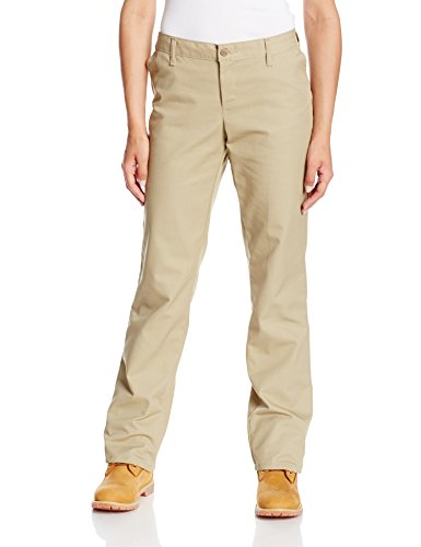 Dickies Occupational Workwear FP325DS 8 RG Polyester/Cotton Relaxed Fit Women's Industrial Comfort Waist Flat Front Pant with Straight Leg, 8 Regular, 31-1/2