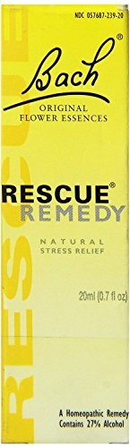 Bach Flower Rescue Remedy Natural Stress Reliever 20 Ml (3 Pack)