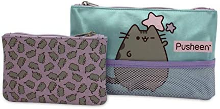 Set de 2 neceseres Pusheen The Cat de Doble Cremallera para niña Estuche/Neceser Net rectangulares, tamaño Mediano.: Amazon.es: Equipaje