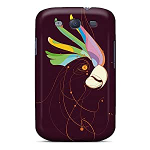 New ENmlhSG3868hbDjG Parrot Head Skin Case Cover Shatterproof Case For Galaxy S3