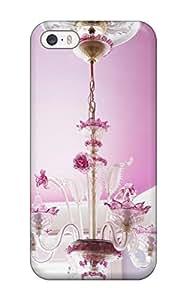 Fashionable LkKvJKu11546AfbzJ Iphone 5/5s Case Cover For Pink Chandelier In Girl8217s Bedroom Protective Case