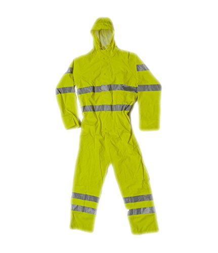 Fortress 351/YE-M Medium Air Reflex Waterproof Coverall - Yellow by Fortress by Castle Clothing Ltd