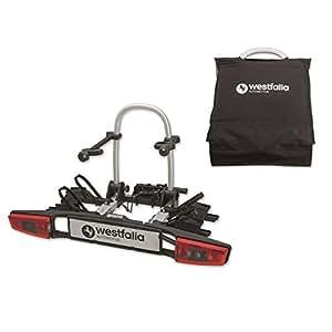 Westfalia Portabicicletas bikelander universal para el remolque Incluye Funda | Enganche de Plegable para 2bicicletas | E-Bike Adecuado | 60kg carga