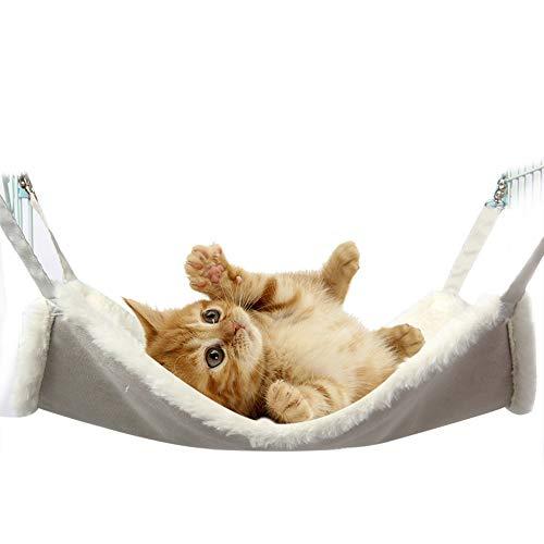 IEUUMLER Comfortable Hängematte Haustier Kätzchen Decke Käfig Hängendes Bett für Kaninchen, Frettchen, Chinchilla…