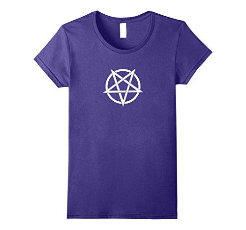 Womens Inverted Pentagram T-Shirt XL Purple