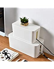 Cord Organizer Box,Cord Hider,Cable Management Box Router Storage Box,Cable Hider,Protect Power Strip,Charger,Cable and Other Electric Devices- Extral Large,Desktop Storage Box