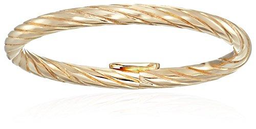 14k Yellow Gold Spiral Wedding Band, Size 8