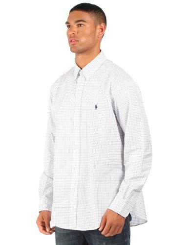 Ralph Lauren - Chemise à carreaux habillée - coupe ajustée - blanc/bleu - homme