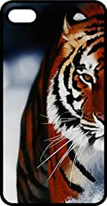 Tiger Black Plastic Case for Apple iPhone 5 or iPhone 5s by Maris's Diary