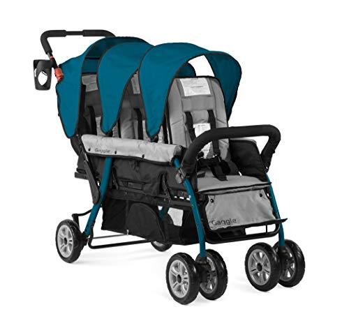 Gaggle Compass 3-Seat Tandem Stroller, Teal/Black