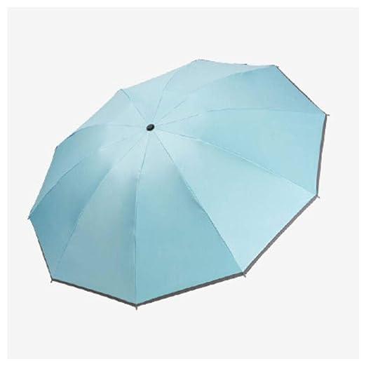 FMIKA Paraguas Plegable al revés, Apertura Cierre automático ...