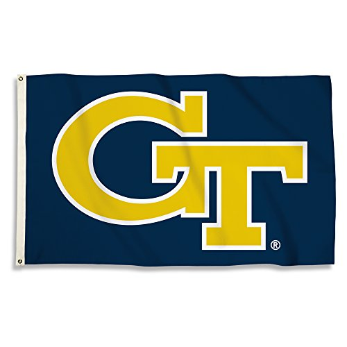 NCAA Georgia Tech Yellow Jackets Flag with Grommets, Yellow, 3' x 5' - Georgia Tech Tailgate