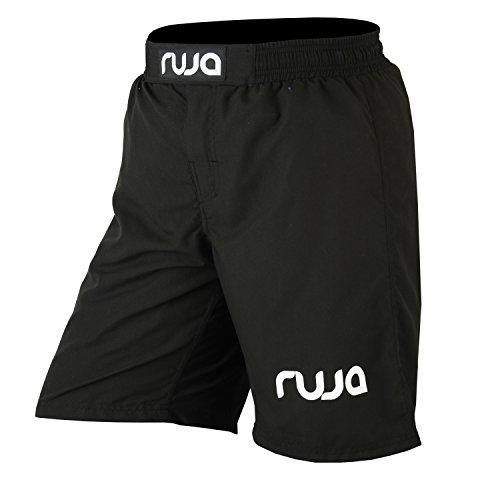 Ruja Men's Pro MMA Boxing Fitness Training Shorts (Black, XL)