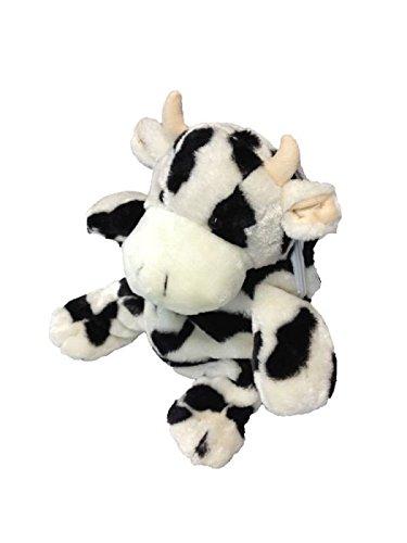 Foxxeo 11014-STD | Deluxe Kinderrucksack Kuh Rucksack Plüsch 30 cm schwarz weiß Kuhrucksack Kind für Kinder Träger verstellbar schwarzer weißer