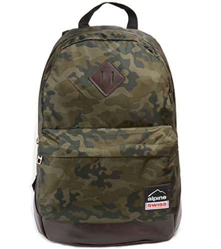Alpine Swiss Midterm Backpack School Bag Bookbag 1 Yr Warranty Camo