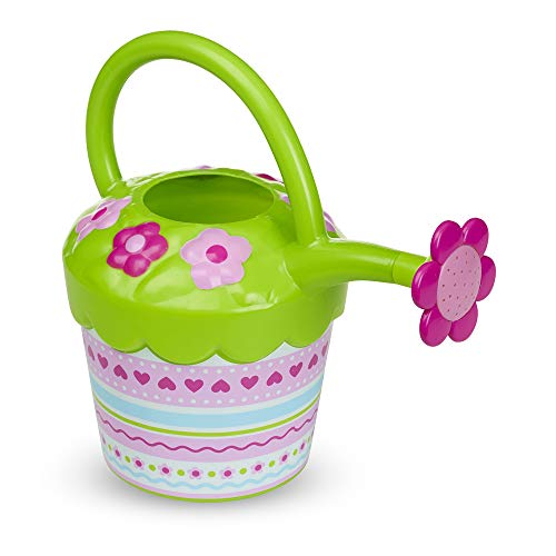 Melissa & Doug Sunny Patch Pretty Petals Flower Watering Can - Pretend Play Toy (Toy Watering Can)